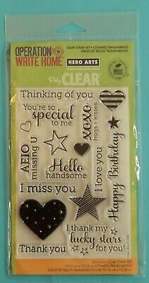 New YEAR ROUND SENTIMENTS Clear Acrylic Stamps by HERO ARTS