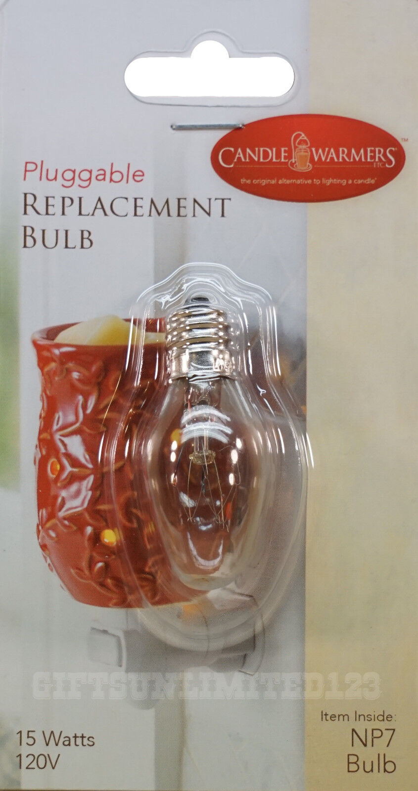 CANDLE WARMERS ETC Pluggable Replacement Bulb NP7 15 Watts 1