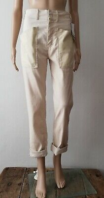 NEW Isabel Marant Cotton Linen Relaxed High Waist Pant Trousers 34 (6) Designer