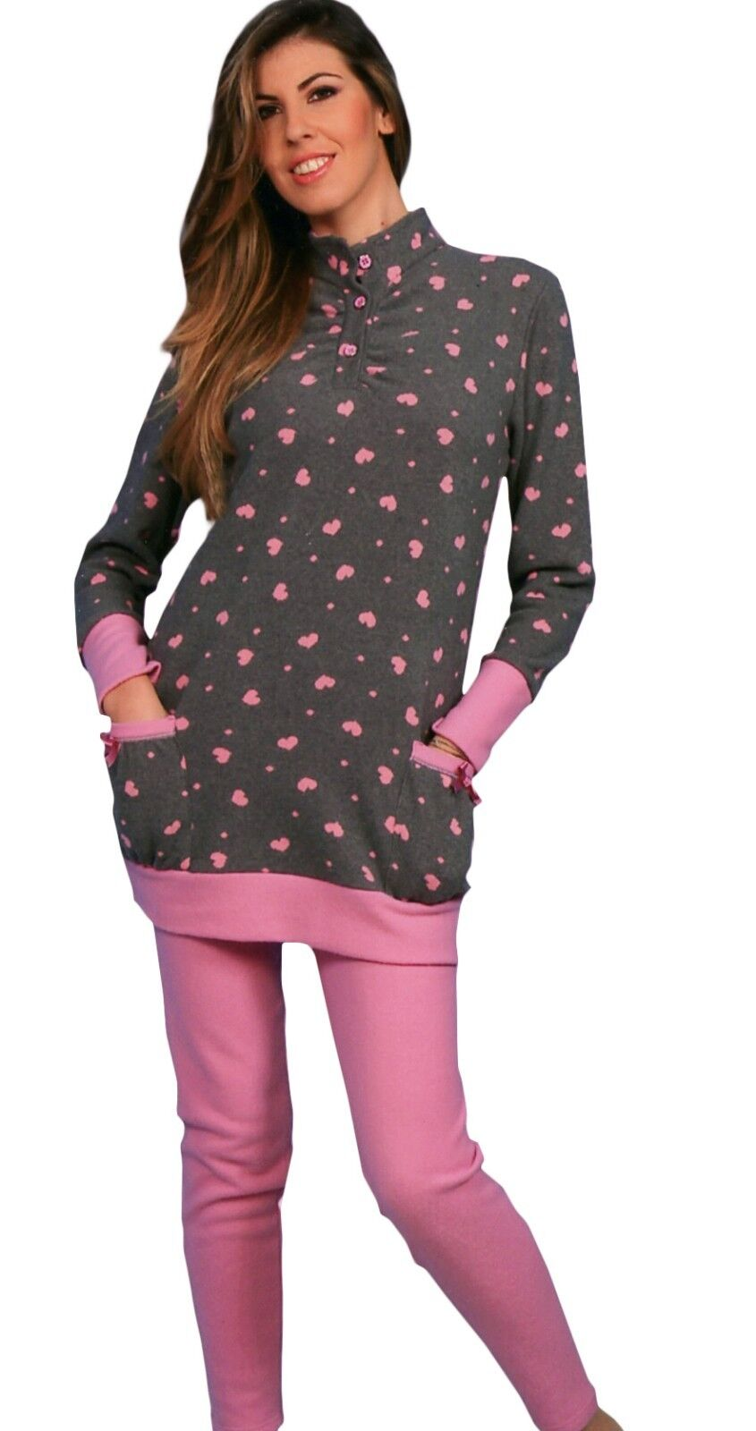 PIGIAMA donna in CALDA maglia punto milano rosa piccoli segreti berlino