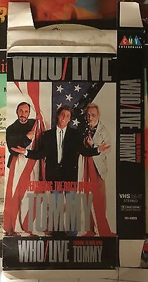 The Who Live CMV VHS film cardboard advertisement