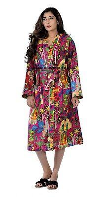 Frida Kahlo Kimono Algodón Ducha Bata Mujer Vestido Talla Grande Protector Playa