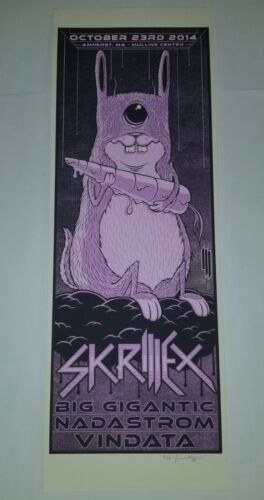 SKRILLEX JIM MAZZA POSTER SCREEN PRINT 9/50 ART Electro EDM DJ DANCE Rave edc