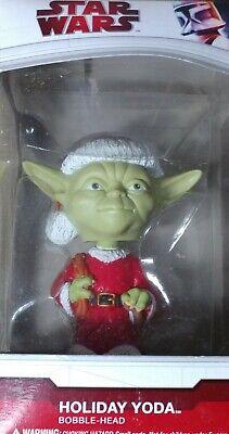 Star Wars Yoda Holiday Mini Wacky Wobbler FUNKO New Christmas Bobble RARE