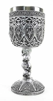 Silver Royal Dragon Wine Goblet Skulls Medieval Collectible Home Decor (Silver Gift Wine)