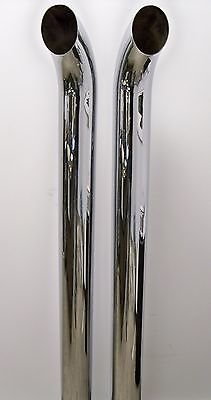 304 Stainless Steel Top - POLISHED CURVED TOP 304 STAINLESS STEEL STACKS 5X44 (PAIR) Scratch and Dent