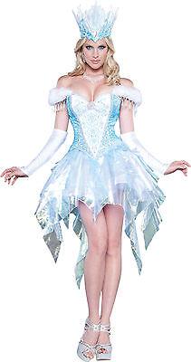 Adult Sexy Snow Queen Princess Cinderella Costume