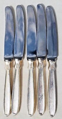 Used, ESTATE STERLING RAADVAD DENMARK HOLLOW BUTTER KNIFE SET-5-PIECES-NO MONO-RUSTFRI for sale  Brockton