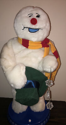 """Gemmy frosty the snowman Christmas animated singing, spinning snowflake 18"""""""