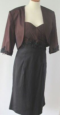 CAMERON BLAKE by Man Cheri Strapless Embellished Dress Bolero Jacket Size 12](Mens Bolero Jacket)