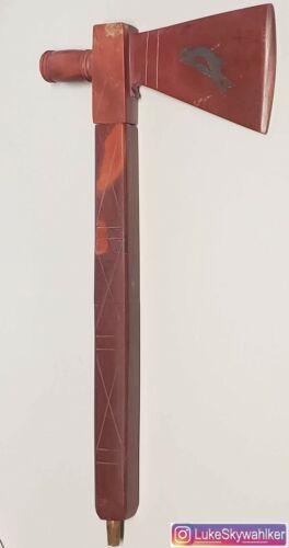 Handmade Pipestone Tomahawk Pipe Catlinite Pewter Bird Native Indian American