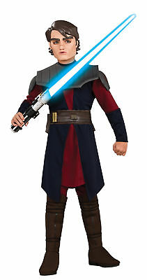Child Clone Wars Anakin Skywalker Costume Size Medium 8-10 (MISSING MASK) - Anakin Skywalker Kids Costume
