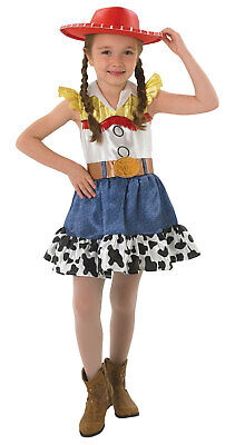 ls Official Disney Kids Children Fancy Dress Cowgirl Costume (Toy Story Cowgirl Jessie Kostüm)
