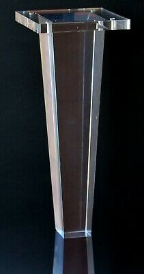 "Acrylic Lucite Furniture Legs for Sofa, Cabinet, ET Center Vanity, Large 10""H  S"