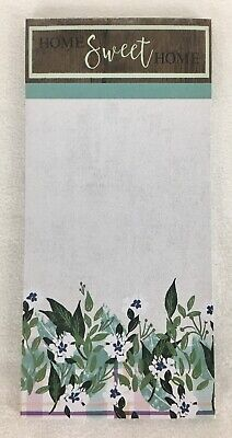 HOME Sweet HOME Floral Magnetic Note Pad Shopping Honey Do List Refrigerator