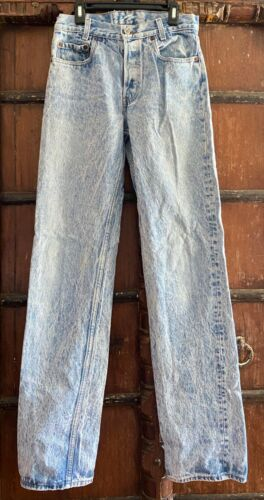Retro acid washed Levi button fly student fit waist 28 length 34 1980s