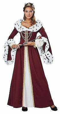 Disney Royal Storybook Queen Medieval Renaissance Adult Costume (Adult Medieval Costumes)