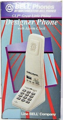 Vintage Bell GLP Great Little Phone w/Alarm Clock Tan Funky Retro Telephone