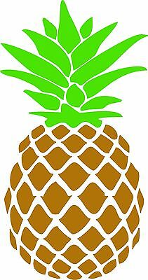 Pineapple Sticker Vinyl Decal Gold and Lime Green for Car Window Skateboard etc.