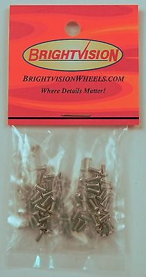 100 SILVER 1-72 Hex-Drive Button-Head Screw-In Rivets For Customs & Retorations