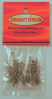100 SILVER 1-72 Hex-Drive Button-Head Screw-In Rivets For Customs & Retorations