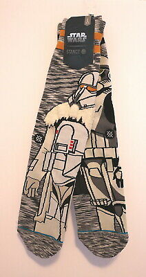 STANCE x STAR WARS STORMTROOPER/SNOWTROOPER CREW SOCKS (Size L) NEW in Package!!