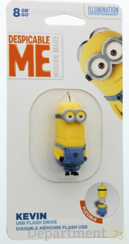 EP Memory Despicable Me Minion Kevin 8GB USB 2.0 Flash Drive Yellow DM2-KEVIN/8GB