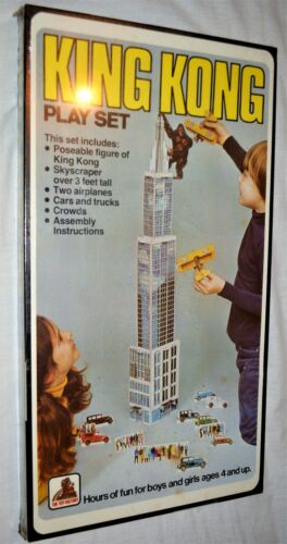 1976 King Kong vintage Play set The Toy Factory misb sealed playset Huge AFA
