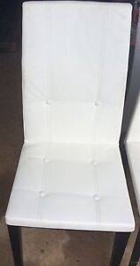 Modern white leatherette chairs Bunglegumbie Dubbo Area Preview