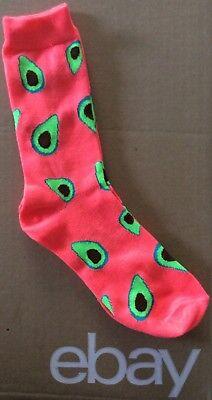 Womens  Avocado Fantasy   Crew Socks Size 9 11