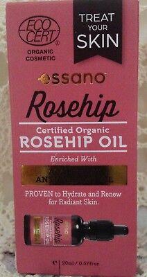 Essano Organic Rosehip Body Oil Antioxidants Acai Berry  .67 fl oz  20 mL