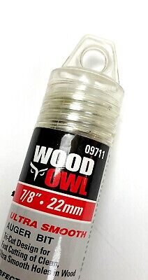 New - Woodowl Tri-cut 78 X 7 12 Ultra Smooth Ship Auger Bit 09711