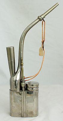 Chinese Qing Paktong Baitong White Brass Metal Marked Opium Smoking Water Pipe