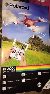 New Polaroid PL2000 Wifi Video Camera Red Learned Drone With Remote