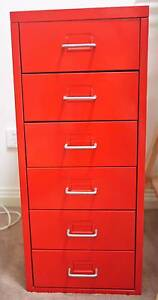 IKEA Helmer Drawer Unit (red) Rozelle Leichhardt Area Preview