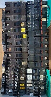 Lot Of 44 Fpe Federal Pacific Stab Lok American Challenger Circuit Breakers