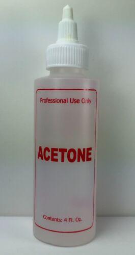 Pure Acetone 4 oz Remove Gel Nail Polish Soak Acrylic Quickly Salon Formula