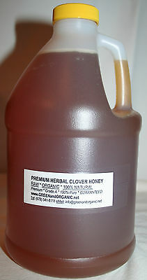 5Lbs ORGANIC 100% Natural PURE REAL CLOVER HONEY Raw Grade A Unrefined 2.27Kg