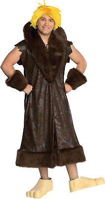 Barney Rubble Teen Deluxe Costume Short Sleeve Coat Halloween Fancy Dress Rubies](Barney Halloween Costume)