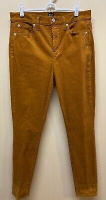 GAP 1969 Rust Brown True Skinny Stretch Cords Corduroy Jean Pants 10/30R