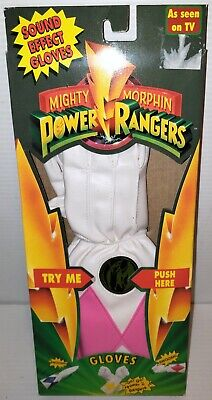Power Ranger Costumes For Halloween (POWER RANGERS Bandai SOUND EFFECT GLOVES KIMBERLY FOR HALLOWEEN OUTFIT)