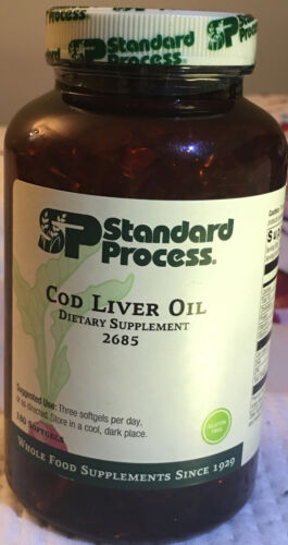 Standard Process - Cod Liver Oil - 180 Softgels. Best by 07/24/21.