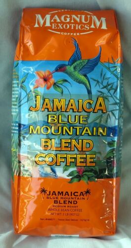 JAMAICAN BLUE MOUNTAIN COFFEE BLEND 2 LB  ~Best Before October  2021~