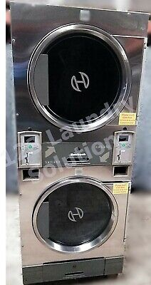 Huebsch 30lb Stack Dryer Stainless Steel 120v Dtck9910006663 Used 27