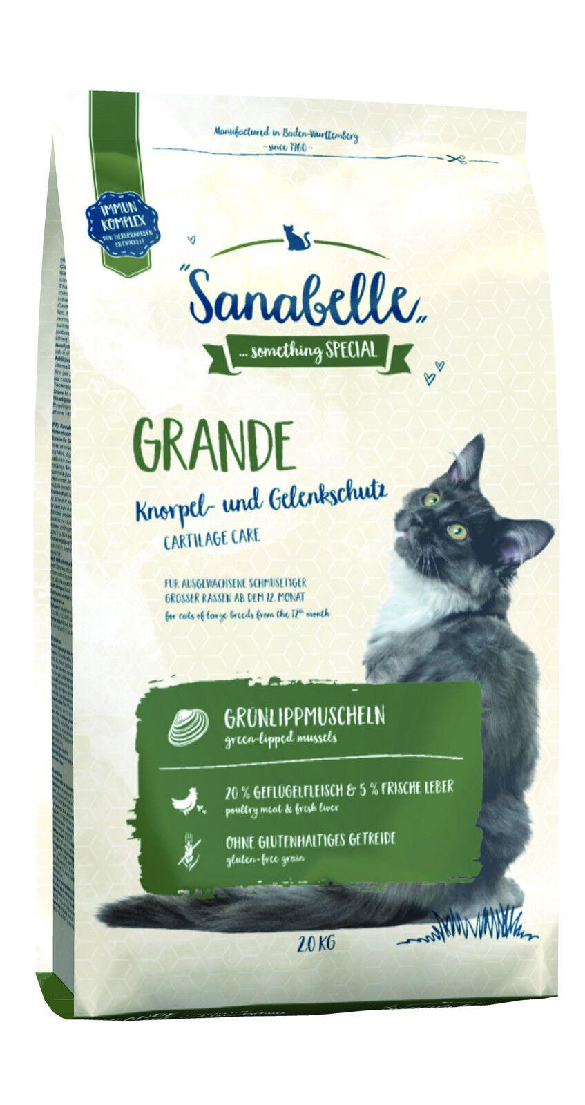 Sanabelle Grande 2kg Trockenfutter für große Katzen glutenfrei mit Gelenkschutz