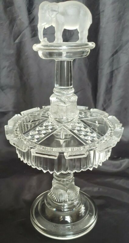 ANTIQUE EAPG Canton Glass Co 1800
