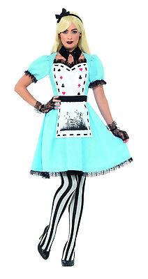 Damen Sexy Halloween Kostüm Alice Im Wunderland Luxus Dunkel Kostüm