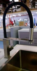 New Phoenix Vivid Vezz Brushed Nickel Flexible Hose Sink Mixer Melbourne CBD Melbourne City Preview
