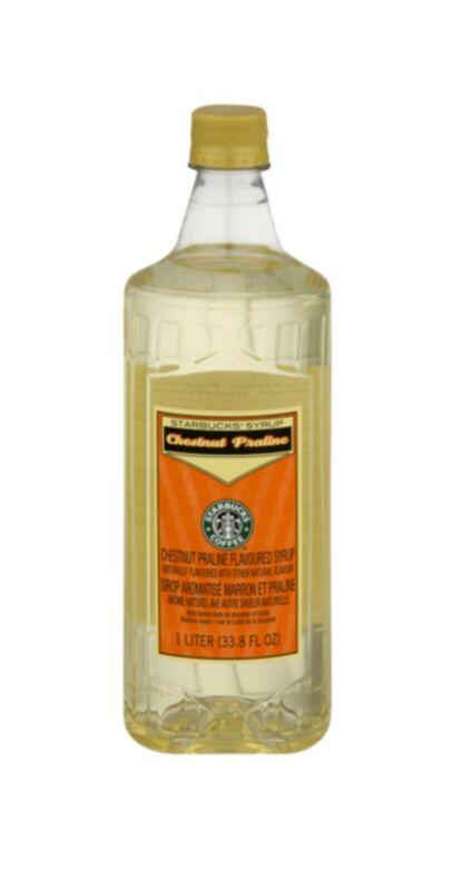 NEW Starbucks Out of Season Chestnut Praline Syrup 1 Liter 33.8oz Bottle w/Pump