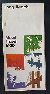 1976 Long Beach street  map  Mobil  oil  gas  California Seal Beach Redondo